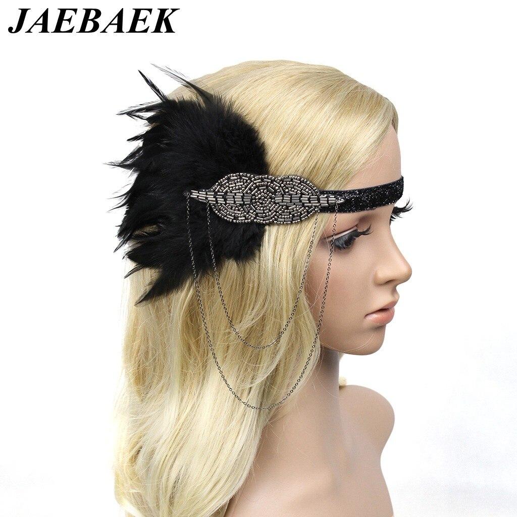 JAEBAEK Women Headpiece Vintage 1920s Headband Flapper Great Gatsby 20s Party Wedding Fascinator headpiece