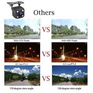 Image 5 - 4 LED Lights Car Rear View Camera HD Auto Camera Back IP68 Waterproof Car Reverse Cameras Vehicle Parking Camera