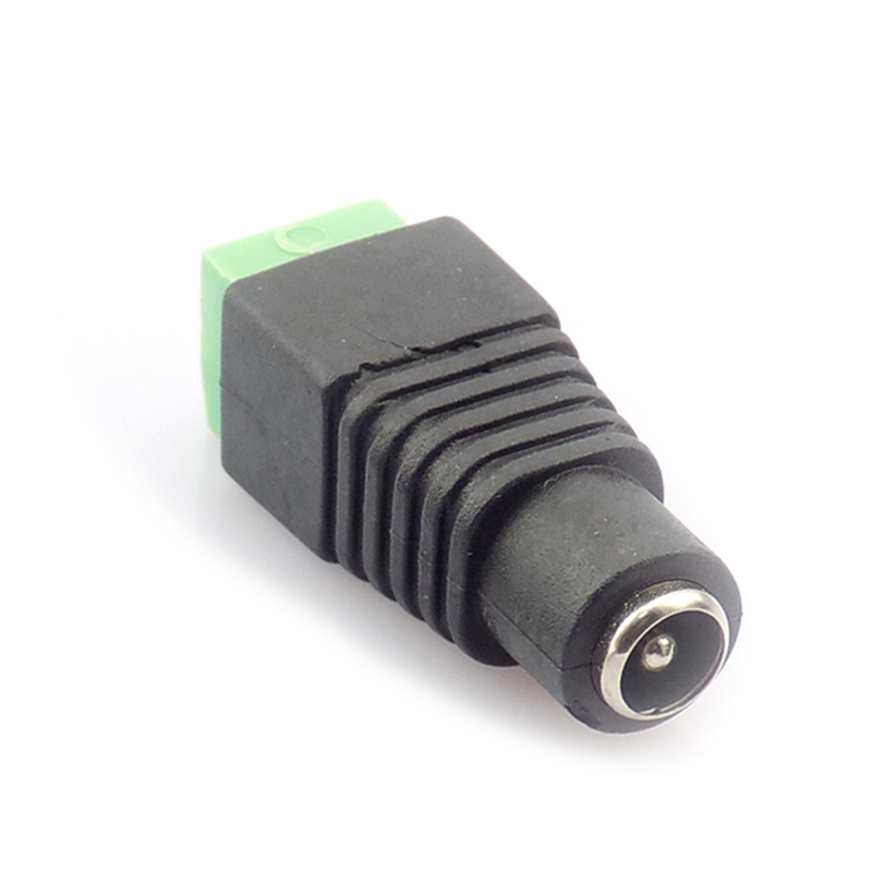 цена на 1pcs DC Female plug CCTV Camera 5.5 x 2.1mm DC Power Cable Female Plug Connector Adapter Jack 5.5*2.1mm to connection led strip
