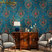 beibehang Luxury gilt Damascus Damascus Luxury Background Wallpapers European Wall Paper for Living room Bedroom Wallpaper Roll
