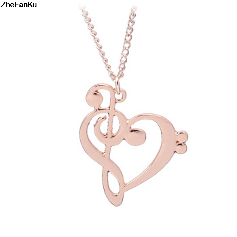 Music note note symbol heart of treble and bass clefs infinity love music note note symbol heart of treble and bass clefs infinity love charm pendant necklaces unisex jewelry in pendant necklaces from jewelry accessories aloadofball Images