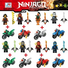 8pcs/set Figures Building Blocks Sets china brand the pirates ninja motorcycle compatible with Lego