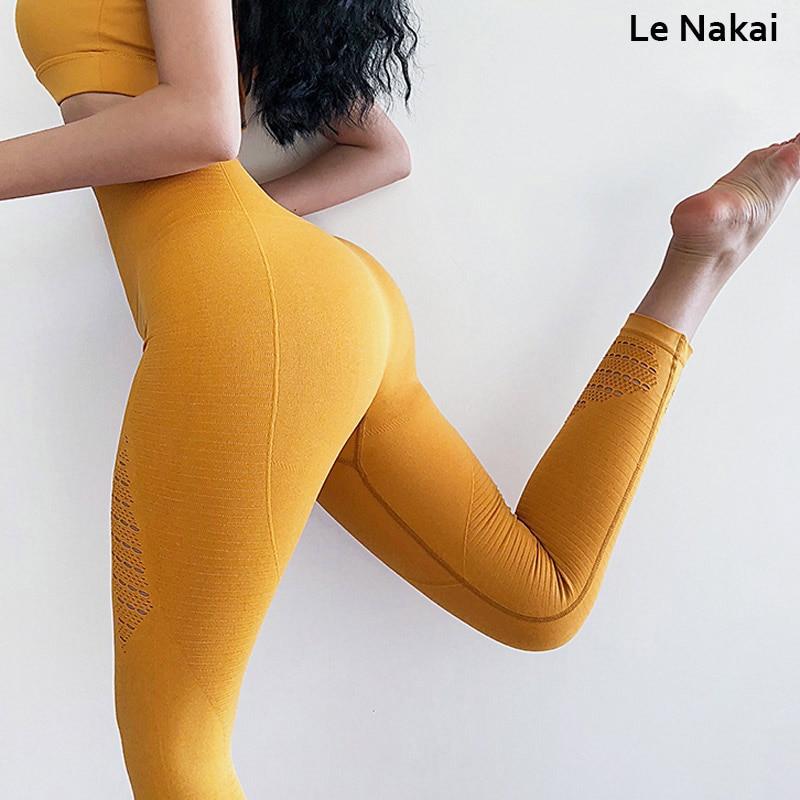 High waist seamless legging for women fitness yoga capris energy seamless scrunch leggings workout gym leggings jogging tights