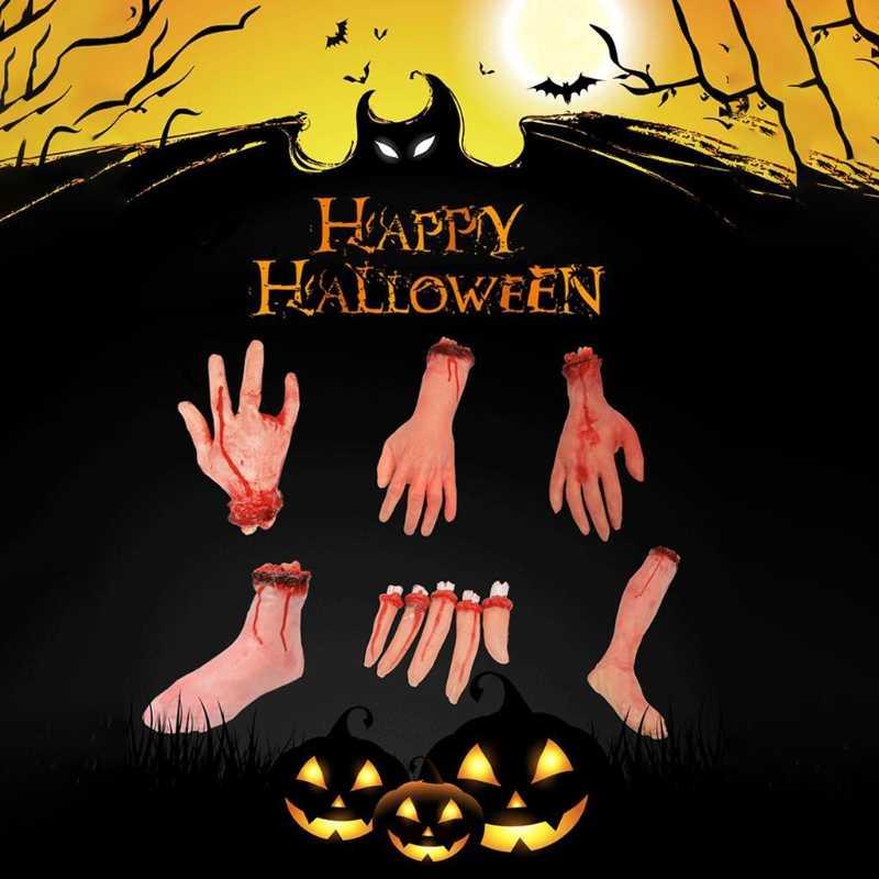 Ужас кровавый ужасный ручной ноги сломанный резиновая игрушка Хэллоуин, привидения дом вечерние реквизит-Аксессуары