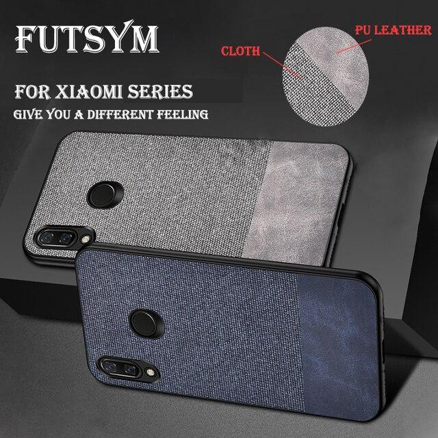 Luxury PU+Cloth All Cloth Ultra Thin Case for Xiaomi Mi8 Case Soft Frame for Xiaomi Mi8se Mi8 Lite Note 5 6 8 Pro Plus 6A Case