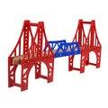 3 unids/set clásico de madera kids toys toams y amigos tren de ferrocarril pista europa estilo puente ranura de combinación