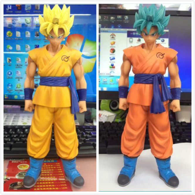 anime Dragon Ball z son goku action figure blue hair and yellow hair pvc collection toy doll model garage kit 26cm 4parts sets super lovely chopper anime one piece model garage kit pvc action figure classic collection toy doll