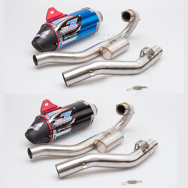 Motorcycle Off Road Exhaust Pipe Muffler System For CRF230 CQR250 Aluminum Alloy CNC Straight Row Motorbike