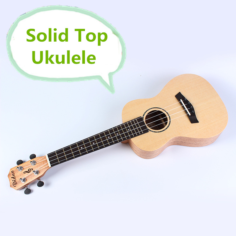 Solid Top Soprano Concert Ukulele 21 23 Inch Electric Guitar 4 String Ukelele Guitarra Wood Picea Asperata Mahogany Uke