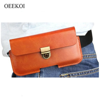 OEEKOI PU Leather Belt Clip Pouch Cover Case for Overmax Vertis 5021 Aim/5011 Expi/5020 Aim/5001 You/5010 Expi/Yard/Aim 5 Inch image