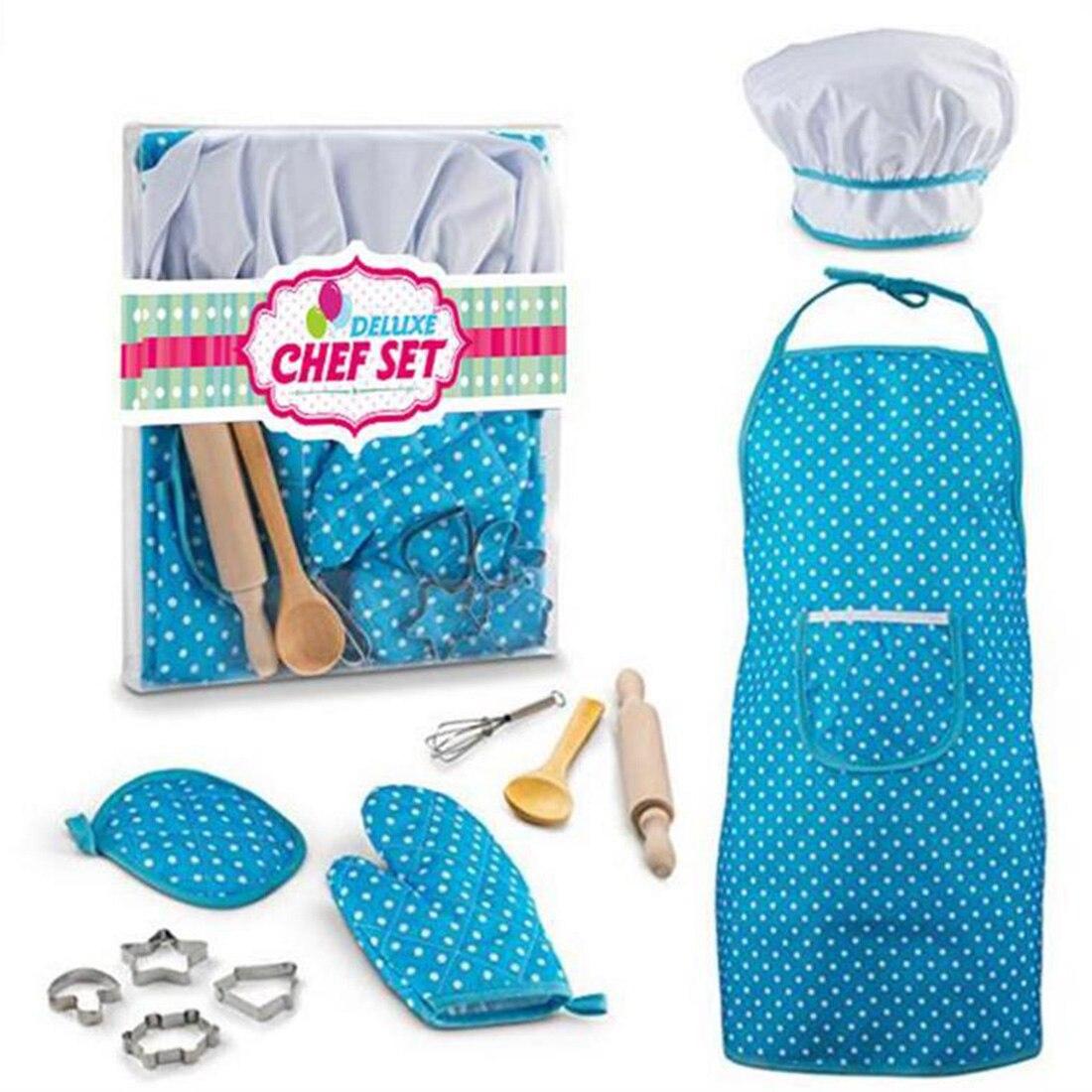 New Creative 11Pcs/set Pretend & Play Emulational Baking Toy Kit DIY Pastry Baker Tool Apron Set for Children 2 ColorsNew Creative 11Pcs/set Pretend & Play Emulational Baking Toy Kit DIY Pastry Baker Tool Apron Set for Children 2 Colors