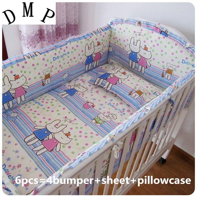 e77029e26 6 قطع سرير الطفل سرير طقم سرير طفل أغطية سرير بيبي جوجو دي كاما ، (مصدات +  ورقة + وسادة غطاء)