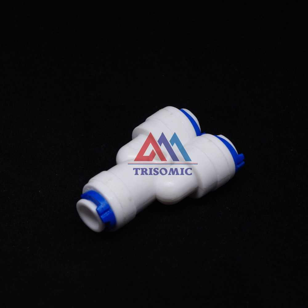 "1/4"" -1/4""-1/4"" Push Fitting Type Y quick connection RO Water Connector Aquarium Water Filter Reverse Osmosis System"