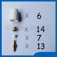 Free Shipping PT 31 LG 40 Air Plasma Cutter Cutting Consumables KIT Plasma Nozzles TIPS Fit
