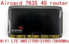 Unlocked 3g 4G LTE wifi router Sierra Aircard 763S lte 4g mifi dongle Wireless Mobile Hotspot pocket mifi router pk 754s 762s