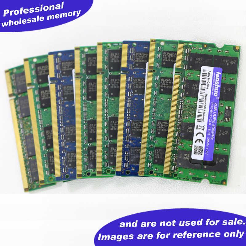 Lanshuo 1G 1 GB DDR2 pc2 5300 667 Mhz 2RX8 PC2-5300 محمول الذاكرة 1G pc2-5300S ddr2 667 MHZ 200pin دفتر رام