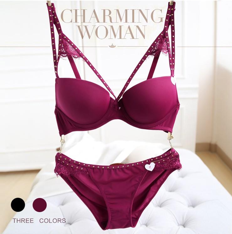 13d88a472a0de Sexy Mousse Womens Bra Brief Sets Seamless Push up Bra Milky Brassiere Comfortable  Sexy Bra Side Gathering Padded Underwear SetUSD 33.68 set