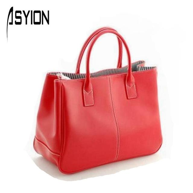 ASYION Special 2016 Hot Selling  PU Lady's Fashion Handbag Classic Design candy color women's tote shoulder messenger bag  010