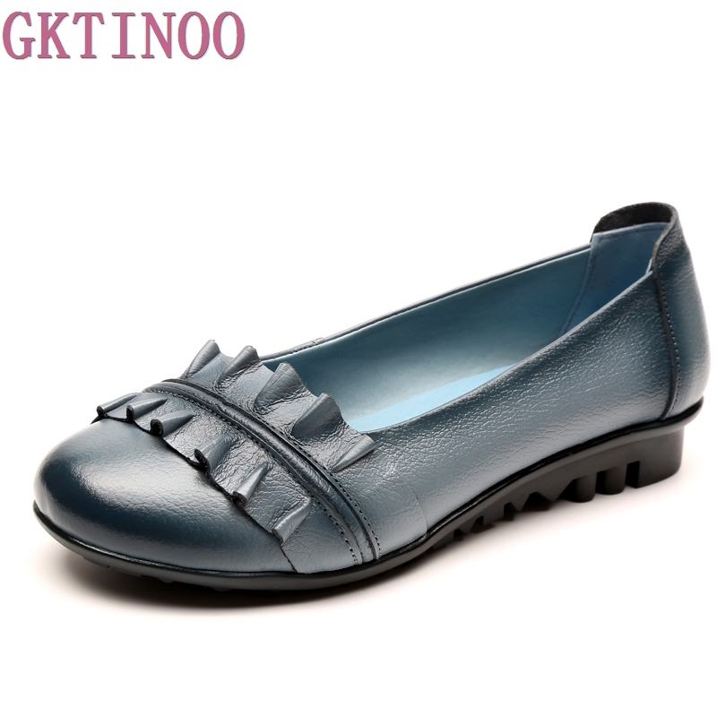 Women Shoes Woman Genuine Leather Flat Shoes Fashion Loafers Female Casual Shoes Women Flats yaerni fashion loafers women shoes genuine leather shoes handmade soft comfortable flat shoes woman casual shoes women flats