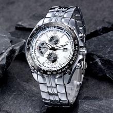 CURREN Fashion Volledige Rvs Horloge Voor Mannen Casual Militaire Quartz Mannen Horloges Horloge Waterbestendig 30 m 8083