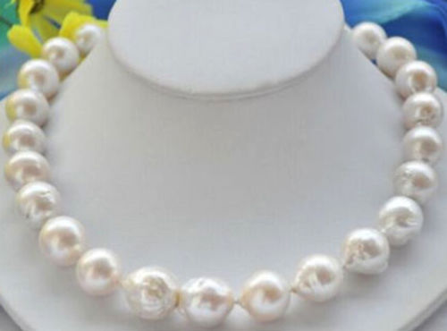 FREE SHIPPING>@@> Hot sale new Style >>>>>12-14mm Genuine Natural White Akoya Baroque Pearl Jewelry Necklace 18 AA+ hot sale new style aaaa 7mm genuine akoya pink sea water pearl necklace 14kgp j5534