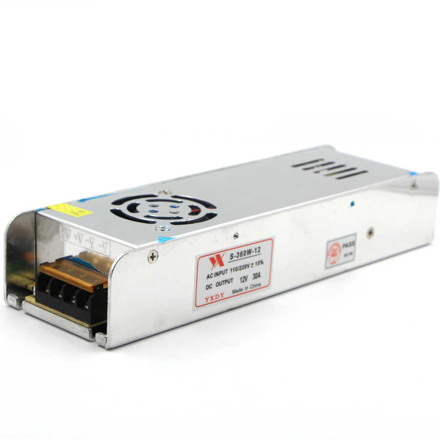 12V 24V aydınlatma trafosu 5A 10A 30A anahtarlama güç kaynağı AC DC adaptörü LED sürücü adaptörü için 5050 5630 LED şerit ışık