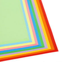 New Year 100pcs/lot A4 color copy paper 100 sheets kindergarten origami card red yellow blue green pink AB335