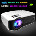 New Arrival! Brightness real 3000Lumens LED Full HD LED home cinema TV projector 3D lcd Multimedia video game Projectors