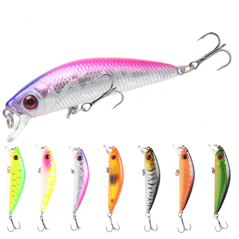1PCS Fishing Lure Minnow Crankbait Hard Bait Tight Wobble Slow sinking Jerkbait Fishing Tackle-in Fishing Lures from Sports & Entertainment