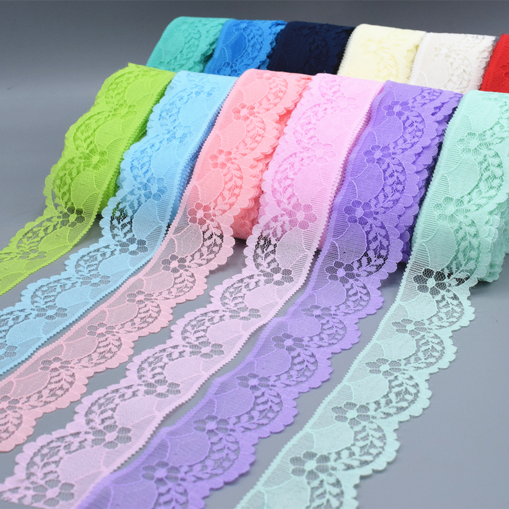 2018 New / Beautiful Lace Embroidery / 10yards Long / 40mm  Wide, Sewing Clothing Accessories