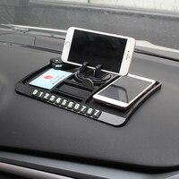 Car Ornament PVC 360 Degree Adjustable Mobile Phone Holder Anti Slip Mat Automobiles Dashboard Non Slip