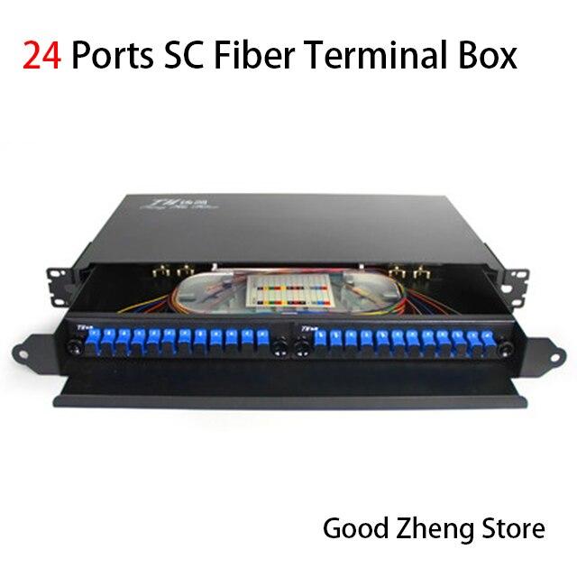 24 Порты оптоволоконная коробка SC волокно оптическая распределительная коробка оптоволоконное распределение