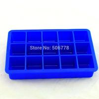Household 15 Cavity Silicone Drink Ice Cube Pudding Jelly Cake Chocolate Mold Mould Tray Set Of