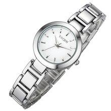 Brand YaQin Women Watch Female Fashion Simple Watches Classical Clock Bracelet Quartz-Watch Black White Dial Relogios Femininos