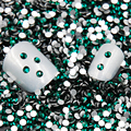 Sale! Super Shiny  Dark green/Emerald Color 3D Non HotFix FlatBack Nail Art Decorations Flatback Rhinestones Nail Glitter
