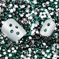 Venda! Super Brilhante verde Escuro/Emerald Cor 3D Decorações Nail Art Natator Não HotFix Natator Pedrinhas Prego Glitter