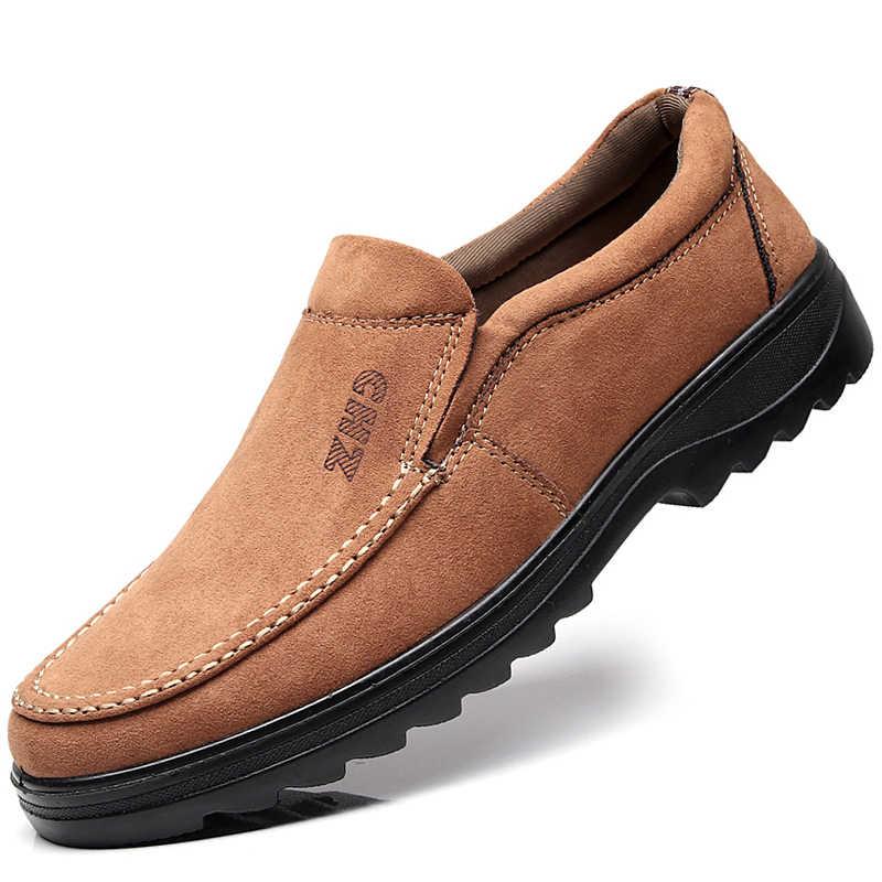 517b79b23 ... Модные осенние Мягкие Мокасины, мужские лоферы высокого качества, большие  размеры 45, 46,