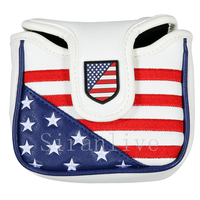 New High Quality Golf Putter Cover Mallet Headcover Square Shape Golf Club Head Cover
