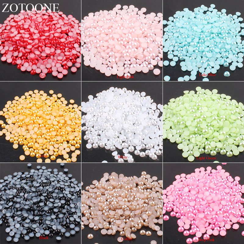 f0b516a89b 100pcs 5mm Resin Sewing Pearl Beads Sew On Rhinestones Claw With ...