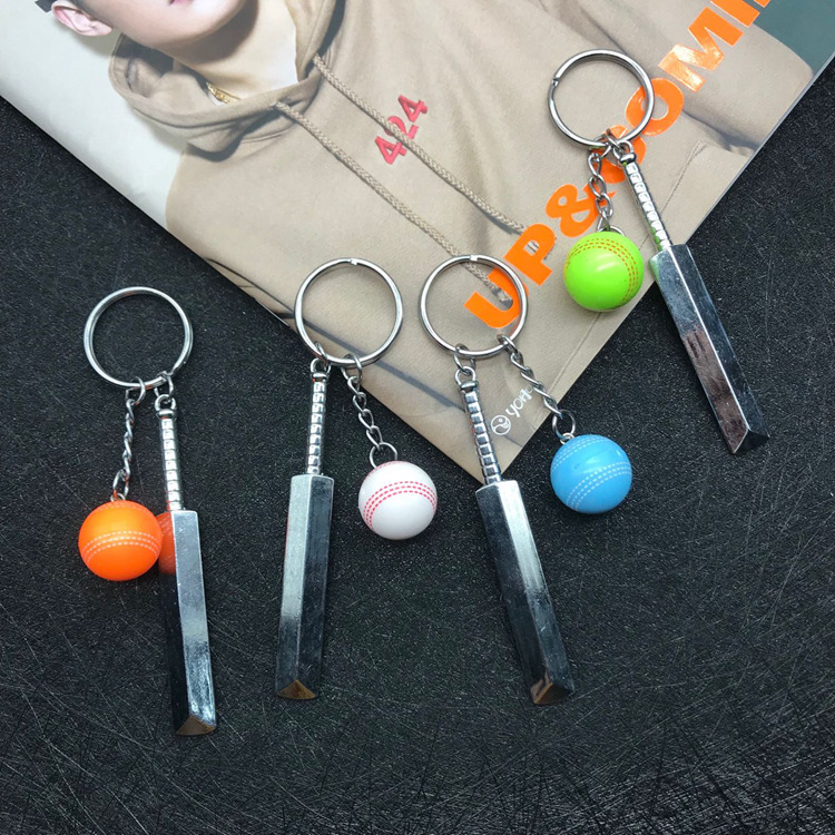 1piece Metal ball key chain mini cricket ball key ring women bag pendant  men jewelry gifts sports surrounding souvenirs-in Key Chains from Jewelry  ... 171221ed5