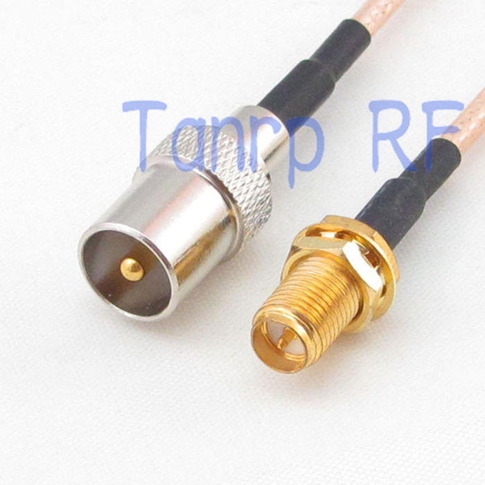 12in TV male  to RP SMA female jack RF adapter connector 30CM Pigtail coaxial jumper extension cord cable RG316 areyourshop hot sale 10pcs adapter n jack female to sma male plug rf connector straight ptfe nickel plating gold plating