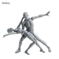 SHF BODY KUN/BODY CHAN body-chan body-kun Grey Color Ver. Jouet à collectionner en PVC noir