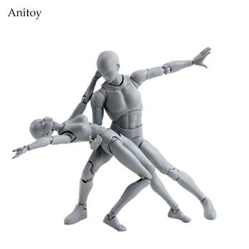 body-chan body-kun Grey Color Ver. Black PVC Action Figure Collectible Model Toy Action Toys