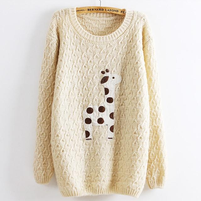 2013 apliques patrón de los ciervos suéter de punto jerseys suéter ...