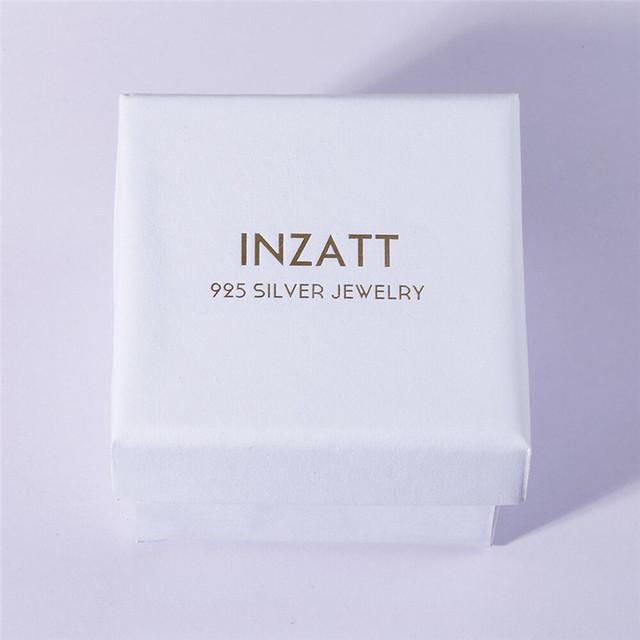 INZATT Personalized Jigsaw Stud Earrings For Women Party Trendy Real 925 Sterling Silver Fine Jewelry Fashion Accessories Bijoux