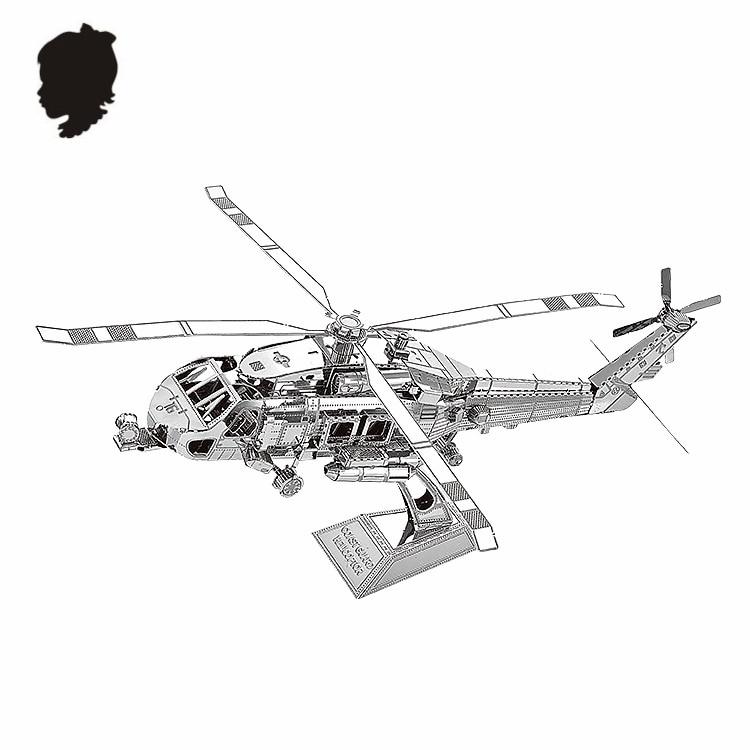 PENYELAMBUNG TANAH HELICOPTOR NANYUAN D12201 Teka-teki 3D DIY - Teka-teki - Foto 6