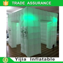 DHL shipping 8ft*8ft*8ft inflatable photo booth tent led