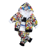 Baby Boys Clothing Sets Autumn Cotton Vest Trousers White Shirt 3pcs Suit 2017 New Casual Outfits