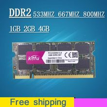 Venda 1gb 2gb 4gb ddr2 667 800 533 mhz 667mhz 800 PC2-5300 PC2-6400 sodimm so--dimm memória ram sdram para laptop notebook