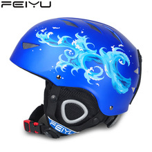 2015 new adult children ski helmet men and women single board head guard double plate equipped with sports ski cap